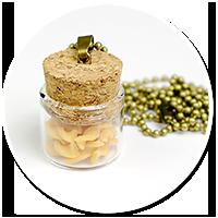 naszyjnik słoiczek z makaronem