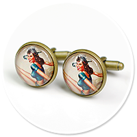 cufflinks with woman