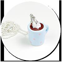 delikatny naszyjnik z gorącą czekoladą nr 5