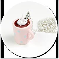 delikatny naszyjnik z gorącą czekoladą nr 4