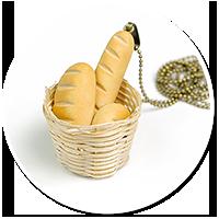 naszyjnik koszyk z pieczywem