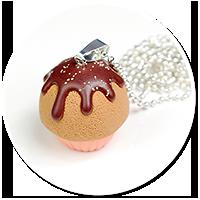 naszyjnik brzoskwiniowa babeczka