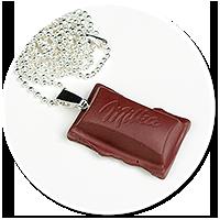 naszyjnik czekoladka