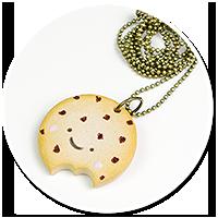 naszyjnik ciasteczko kawaii