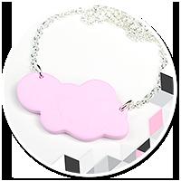 naszyjnik różowa chmurka