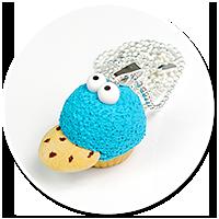 naszyjnik babeczka ciasteczkowy potwór