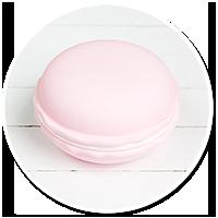pojemnik różowy makaronik