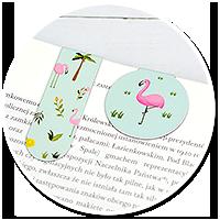 magnetyczna zakładka z flamingiem