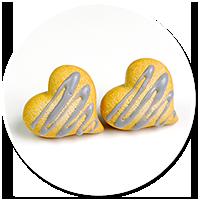 kolczyki wtykane ciasteczka z lukrem nr 2