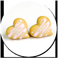 kolczyki wtykane ciasteczka z lukrem nr 3