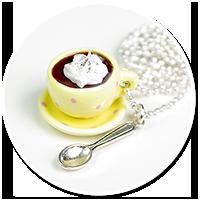 delikatny naszyjnik z gorącą czekoladą nr 3