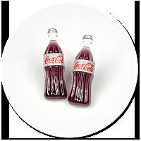 kolczyki wtykane cola