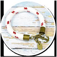 bransoletka lina z kotwicą