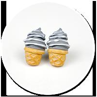 kolczyki wtykane lody włoskie nr 2