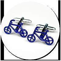 spinki do mankietów dla rowerzysty (rower)