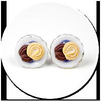 kolczyki wtykane talerzyki z ciasteczkami nr 2