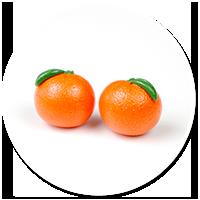 kolczyki wtykane pomarańcze