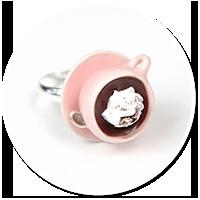 pierścionek z gorącą czekoladą