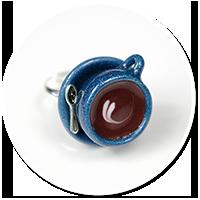 pierścionek ciemna filiżanka z kawą nr 2