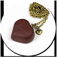 naszyjnik czekoladowa parlinka serce