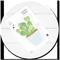 karteczki z kaktusem