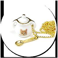 naszyjnik cukiernica z kotkiem