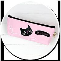 różowa kosmetyczka z kotem
