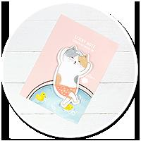 słodkie karteczki kawaii (kotek) nr 2