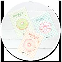słodkie karteczki kawaii (pączek)