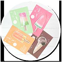 słodkie karteczki kawaii (lód)