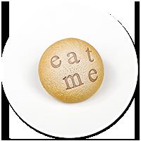 broszka ciasteczko EAT ME