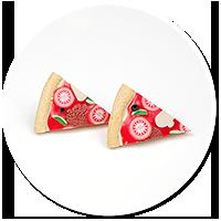 kolczyki wtykane pizza