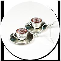 kolczyki cappuccino