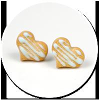 kolczyki mini ciasteczka serca z lukrem nr 2