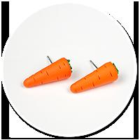 kolczyki wtykane marchewki
