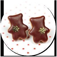 kolczyki wtykane świąteczne misie nr 6
