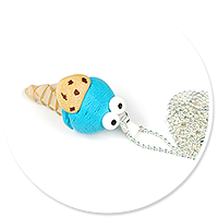 naszyjnik lód ciasteczkowy potwór
