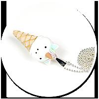 naszyjnik lód jednorożec