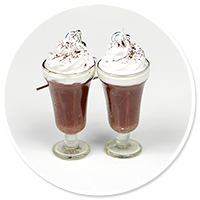kolczyki gorąca czekolada