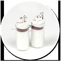 kolczyki caffè latte