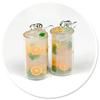 kolczyki woda z miętą i pomaranczą