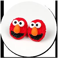 kolczyki wtykane Elmo