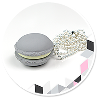 necklace gray macaroon