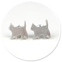 plug-in earrings (cats) no. 2