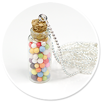 necklace jar with candies no. 3