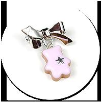 mini broszka ciasteczko