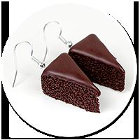 kolczyki ciasto czekoladowe