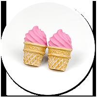 kolczyki wtykane lody włoskie nr 5