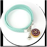 kolorowa bransoletka z pączkiem nr 6