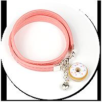 kolorowa bransoletka z pączkiem nr 7
